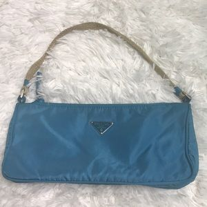 Small blue nylon authentic Prada